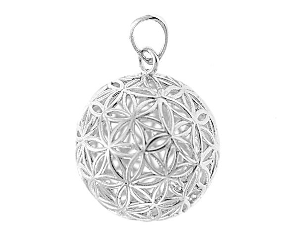 Bali beads wholesale bali silver gold beads and findings silver pendant 925 975 fine jewelry sterling silver 925 975 flower of life size 3029with ring x 2743 hole mozeypictures Image collections