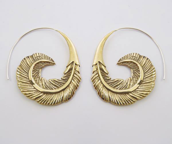 Feather Tribal Earring Quality Br Combined With
